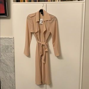 Forever 21 duster Sz S nwt long sleeve trench thin